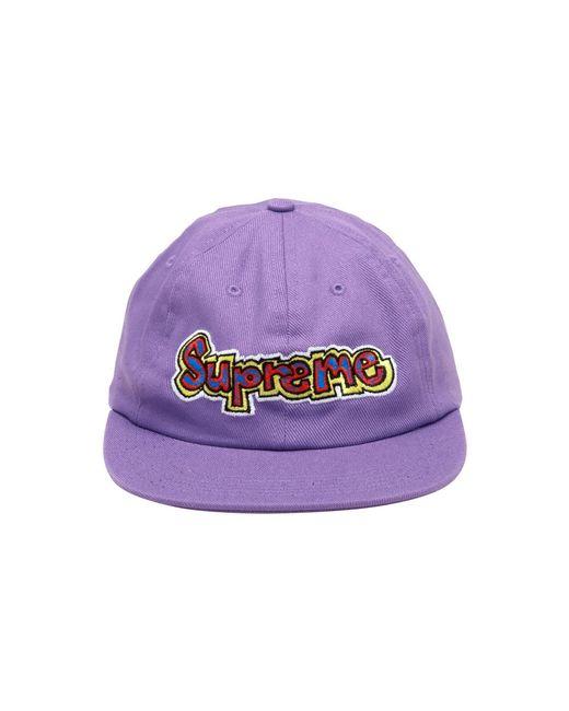 fd417b55 Supreme Gonz Logo 6 Panel Cap in Purple - Lyst