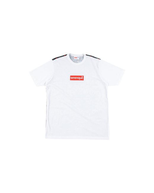 0a0564b89 Supreme Cdg Box Logo Tee in White for Men - Lyst