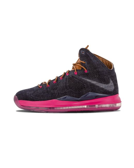 092cea297d07 Lyst - Nike Lebron 10 Ext Denim Qs Sneakers in Blue for Men - Save 45%