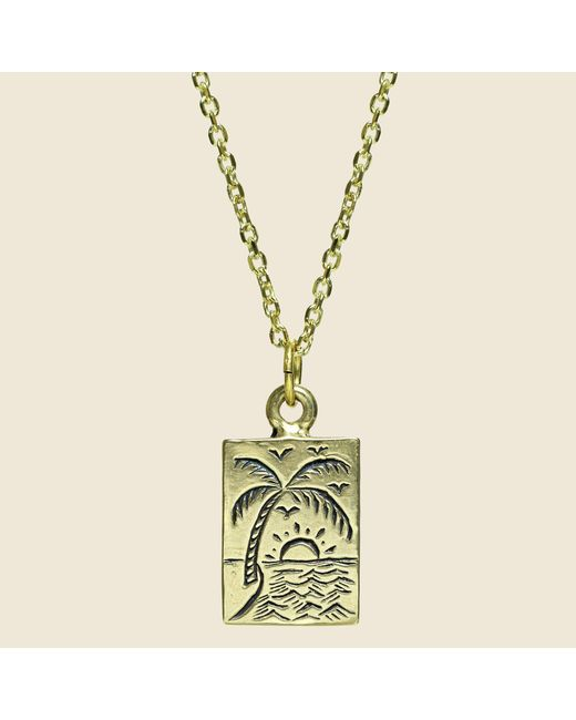 Lhn Jewelry | Metallic Paradise Necklace - Brass | Lyst