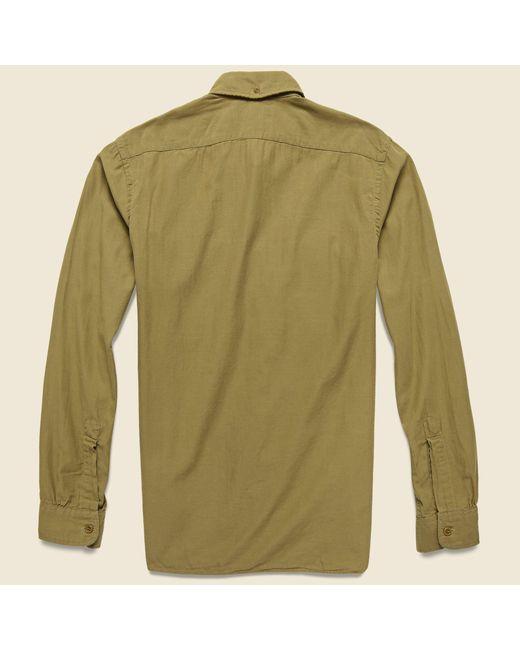 c1917879 ... RRL - Green Clayton Sateen Military Shirt - Desert Tan for Men - Lyst  ...