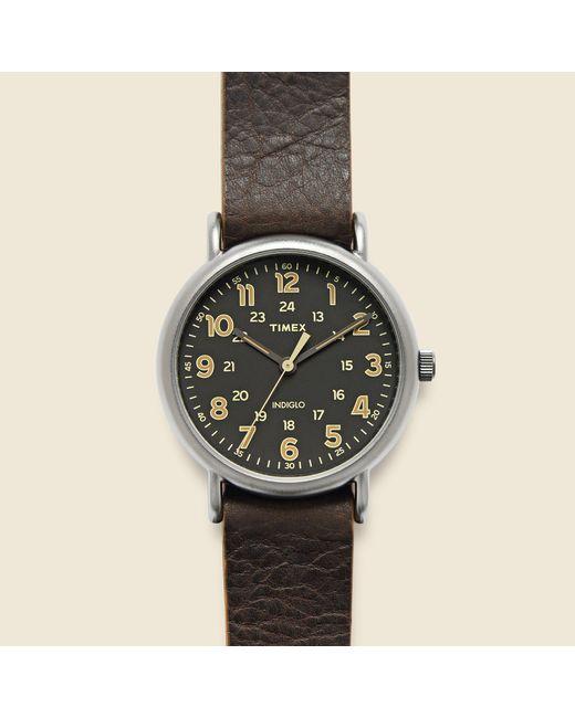 Timex   Multicolor Weekender 40mm Watch - Gunmetal/dark Brown Leather for Men   Lyst