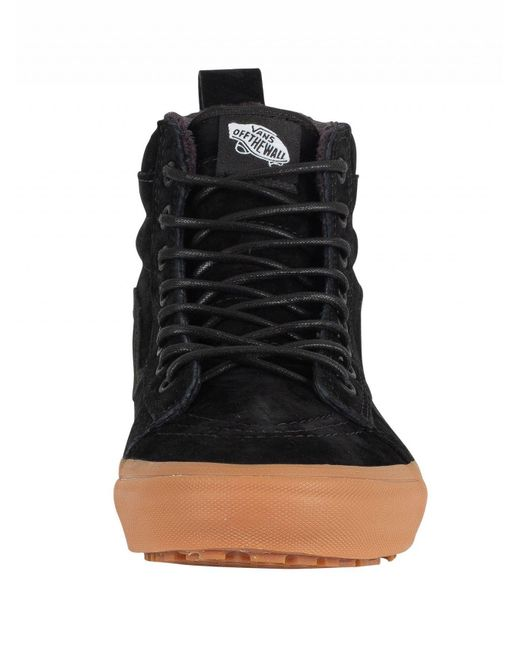 a908aa04a4096b Vans Black gum Sk8-hi Mte Suede Trainers in Black for Men - Save ...