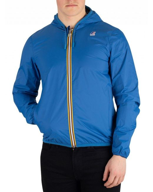 K-Way - Blue/navy Jacques Reversible Plus Double Jacket for Men - Lyst