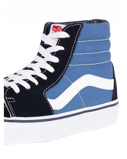 1cce0a86681e42 ... Vans - Blue Navy Sk8-hi Trainers for Men - Lyst ...