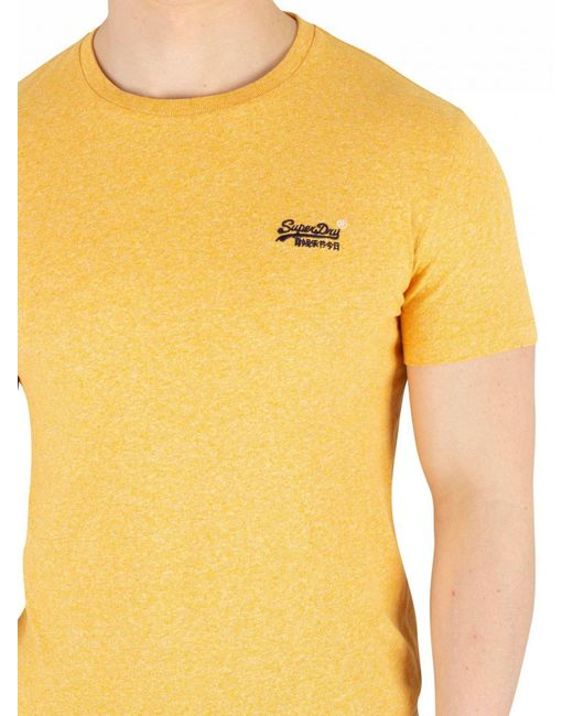 ca33740e ... Superdry - Sunshine Yellow Grit Orange Label Vintage Embroidery T-shirt  for Men - Lyst ...