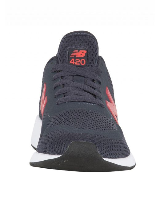 new balance 420 navy and red