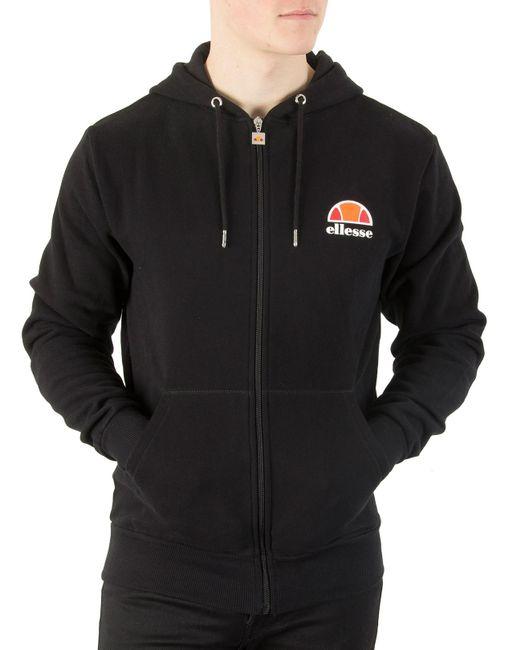 Ellesse - Black Anthracite Miletto Zip Logo Hoodie for Men - Lyst