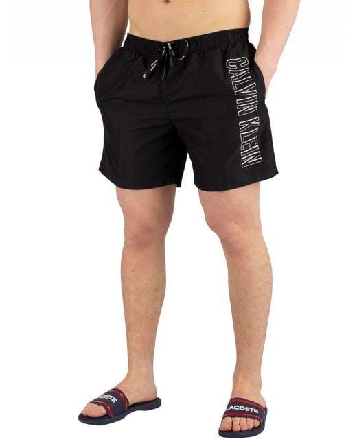 ff557f9731 Calvin Klein - Men's Medium Drawstring Swimshorts, Black Men's Shorts In  Black for Men ...