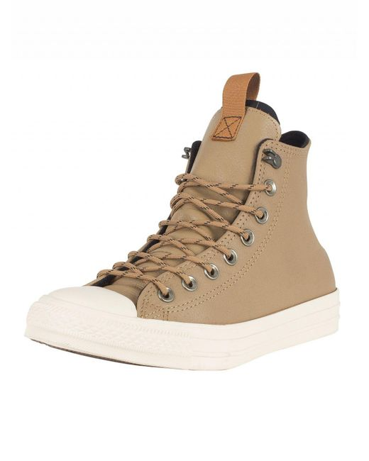 Converse - Teak/black/driftwood Ct All Star Hi Leather Trainers for Men - Lyst