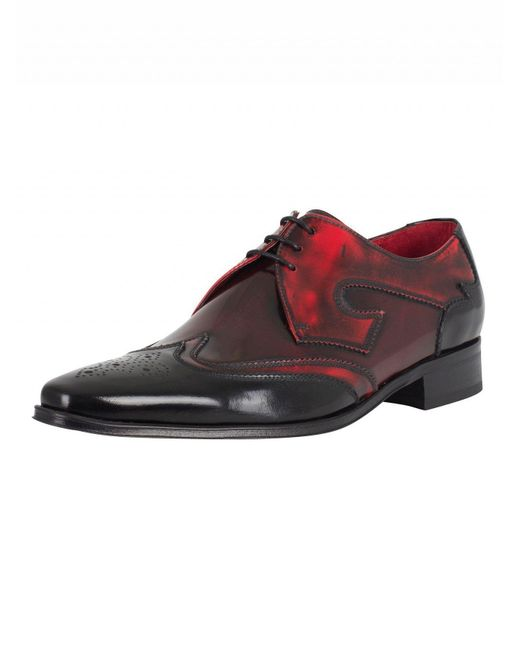 Jeffery West - College Black/college Red Mix Polished Shoes for Men - Lyst