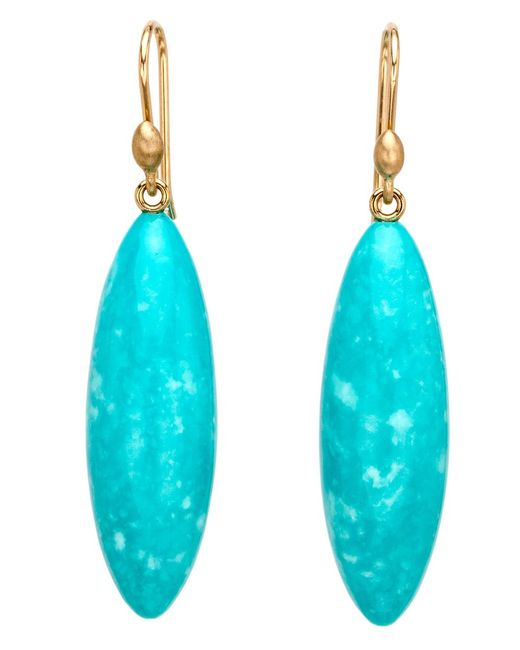 Ted Muehling | Blue Turquoise Long Berry Earrings | Lyst