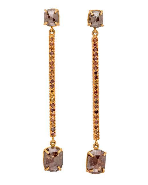 Yossi Harari   Brown Diamond Stick Earrings   Lyst