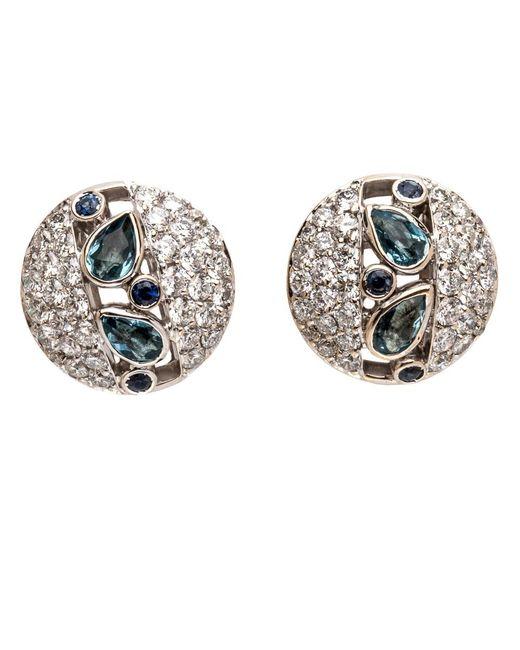 Ana Katarina | Multicolor Aquamarine And Diamond Earrings | Lyst
