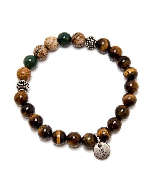 Eleventy | Brown And Beige Beaded Stretch Bracelet for Men | Lyst