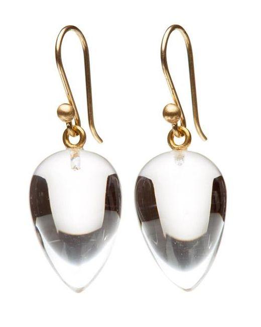 Ted Muehling   Metallic Clear Crystal Acorn Earrings   Lyst