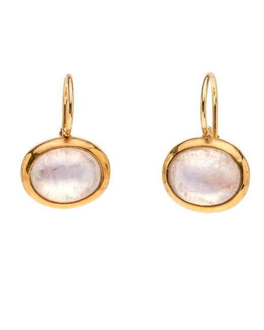Darlene De Sedle | Metallic Oval Moonstone Earrings | Lyst