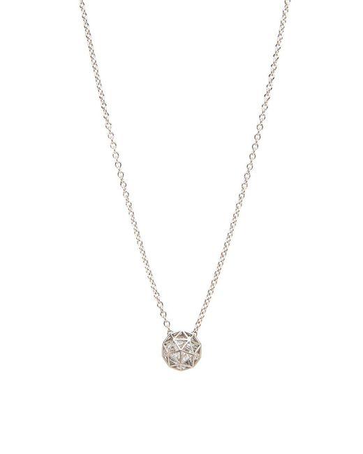 Roule & Co. | White Sapphire Shaker Pendant Necklace | Lyst