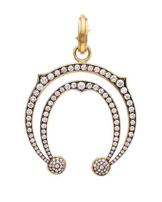 Sylva & Cie - Metallic Double Horseshoe Diamond Pendant - Lyst