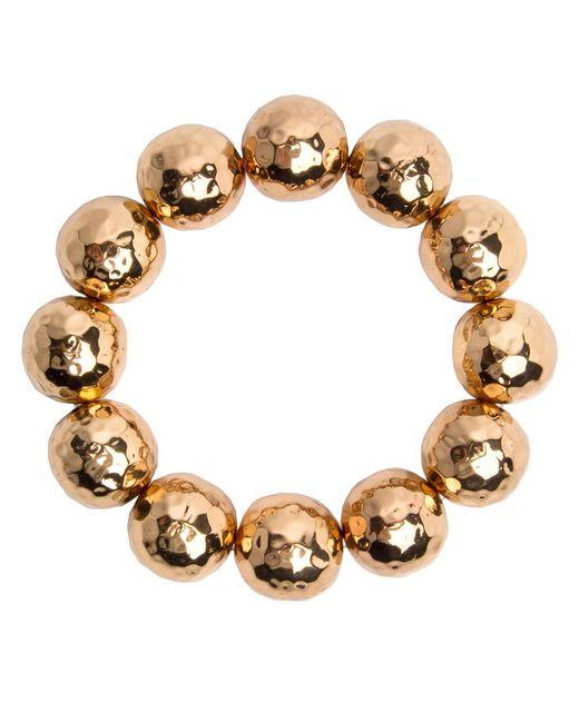 Nest | Metallic Hammered Gold Beaded Stretch Bracelet | Lyst