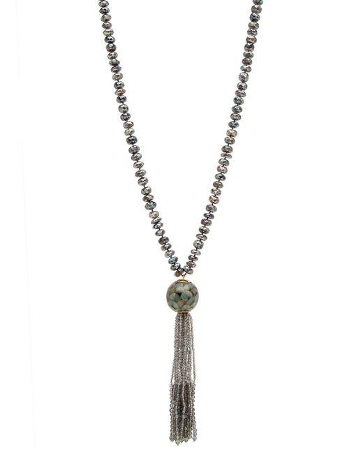 Silvia Furmanovich | Metallic Marquetry Tassel Labradorite Beaded Necklace | Lyst
