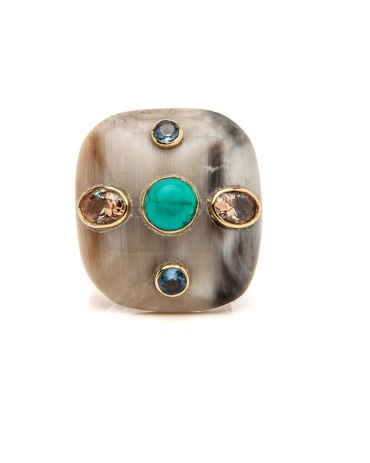 Ashley Pittman | Metallic Aulu Light Horn Ring | Lyst