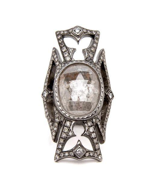 Loree Rodkin | Metallic Maltese Cross Diamond Ring | Lyst