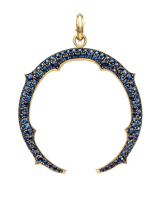 Sylva & Cie   Blue Sapphire Horseshoe Pendant   Lyst