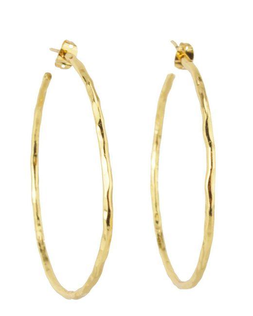 Nest | Metallic Thin Gold Hoop Earrings | Lyst