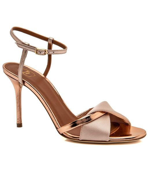 Malone Souliers - Multicolor Nude And Rose Gold Terry Sandal - Lyst