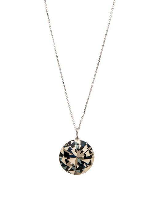 Silvia Furmanovich - Metallic Marquetry Round Faceted Pendant Necklace - Lyst