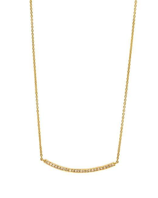 Yossi Harari | Metallic Diamond Pave Bar Necklace | Lyst