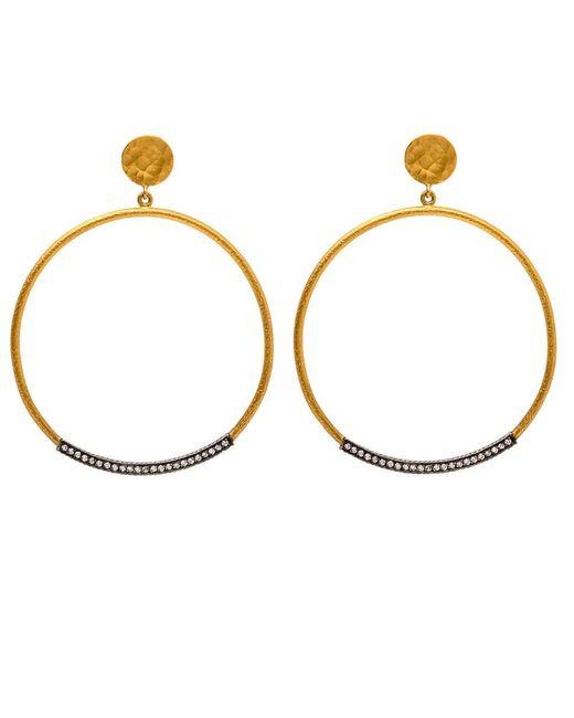 Yossi Harari   Metallic Ellyn Hoop Earrings   Lyst