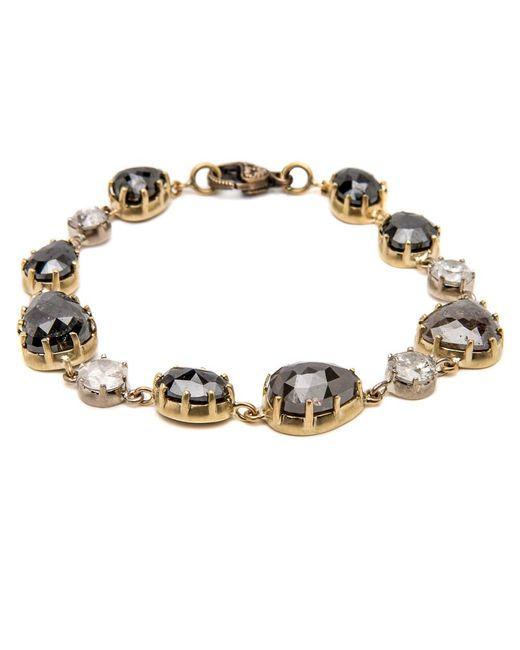 Sylva & Cie - Metallic Mixed Diamond Bracelet - Lyst