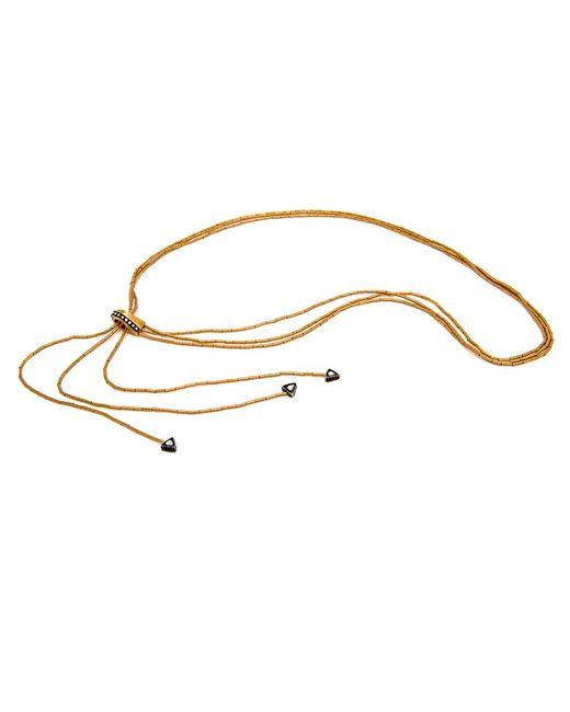 Yossi Harari - Metallic Bamboo Lariat Necklace - Lyst
