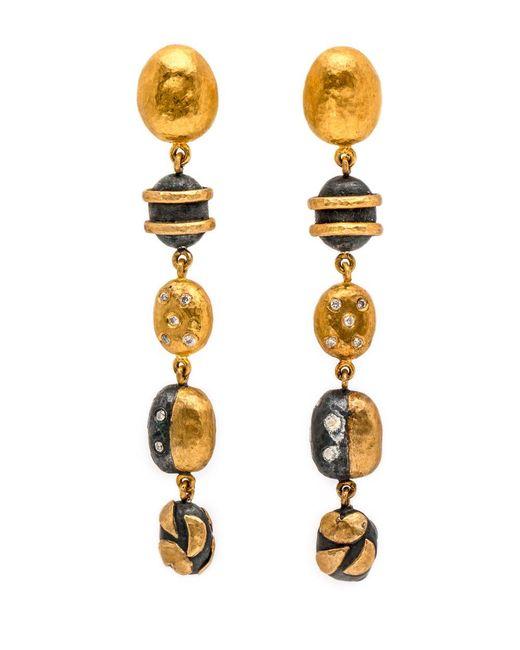 Yossi Harari - Multicolor Helen Multi Bead Linked Drop Earrings - Lyst