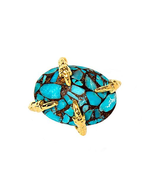 Devon Leigh | Blue Copper Infused Turquoise Mosaic Cabochon Ring | Lyst
