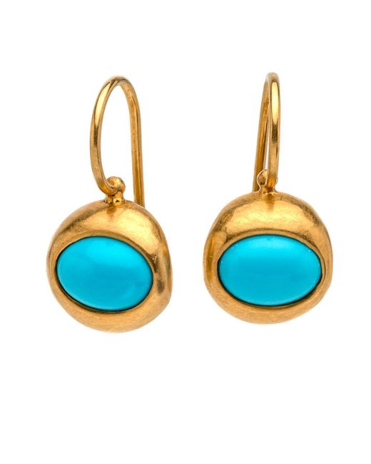 Darlene De Sedle | Blue Oval Turquoise Earrings | Lyst
