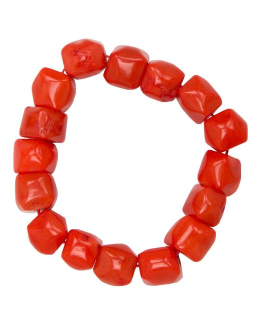 Nest - Red Coral Stretch Bracelet - Lyst