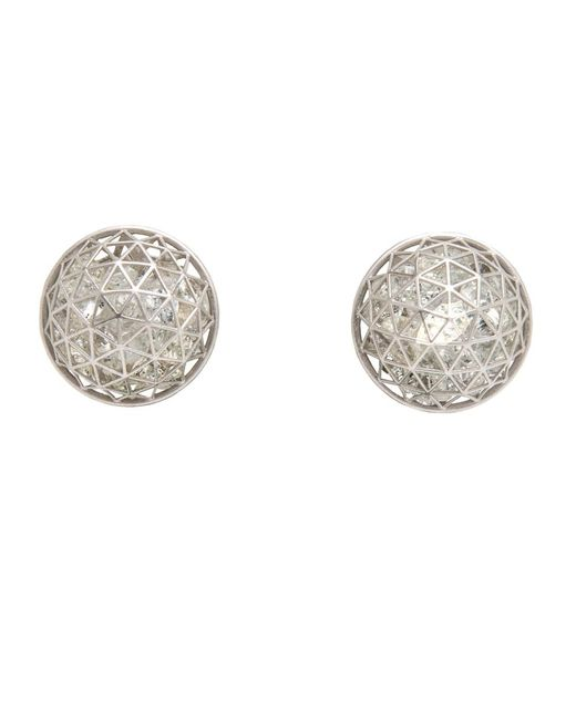 Roule & Co. | White Sapphire Shaker Dome Earrings | Lyst