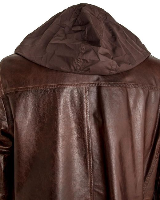 Isaia Chocolate Vintage Leather Jacket in Brown for Men | Lyst