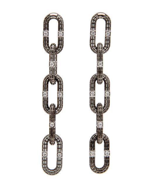 Roule & Co. - Multicolor Brilliant Cut Diamond Chain Link Earrings - Lyst