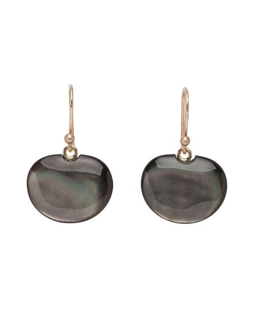 Ted Muehling - Black Mop Lilypad Earrings - Lyst