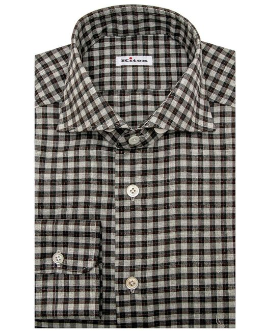 Cheap Sale Classic plaid shirt - Grey Kiton 2018 New Online Shop Your Own Cheap Huge Surprise IjBa5n