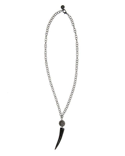 Nest - Metallic Gunmetal Chain Long Pendant Necklace - Lyst