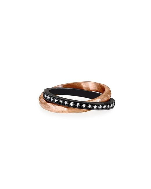 Nancy Newberg - Metallic Rose Gold And Oxidized Silver Rolling Ring - Lyst