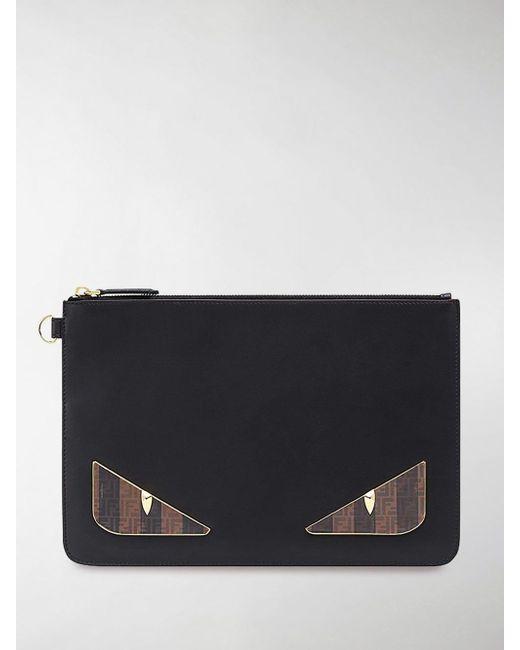 fd18c5d88829 Fendi - Black Bag Bug Pouch for Men - Lyst ...
