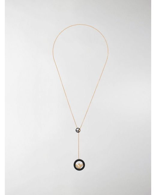 Fendi - Metallic F Is Necklace - Lyst