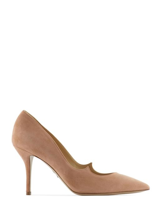 Paul Andrew | Pink Kimura Signature Mid-heel Suede Pumps | Lyst