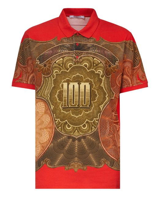 Givenchy | Multicolor Dollar Print Cotton Polo Shirt for Men | Lyst